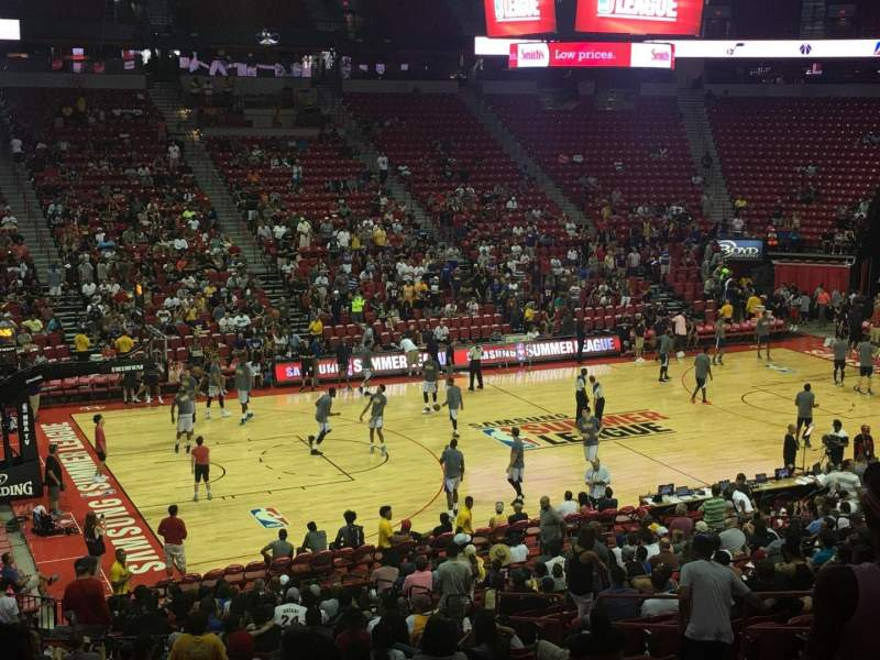 Seating view for Thomas & Mack Center Section 108 Row U Seat 13