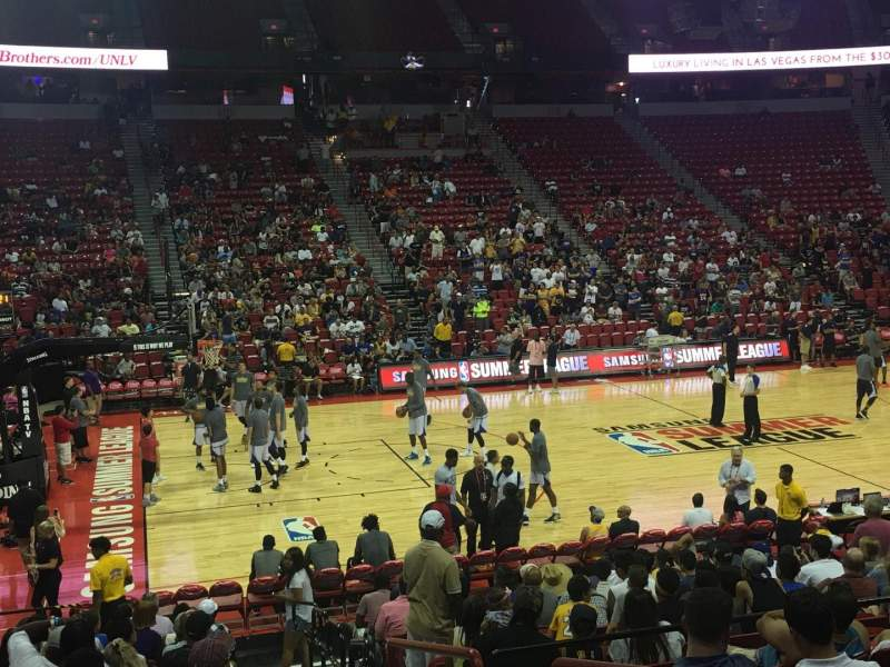 Seating view for Thomas & Mack Center Section 108 Row H Seat 1
