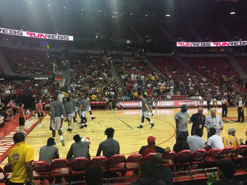 Seating view for Thomas & Mack Center Section 107 Row Ee Seat 1