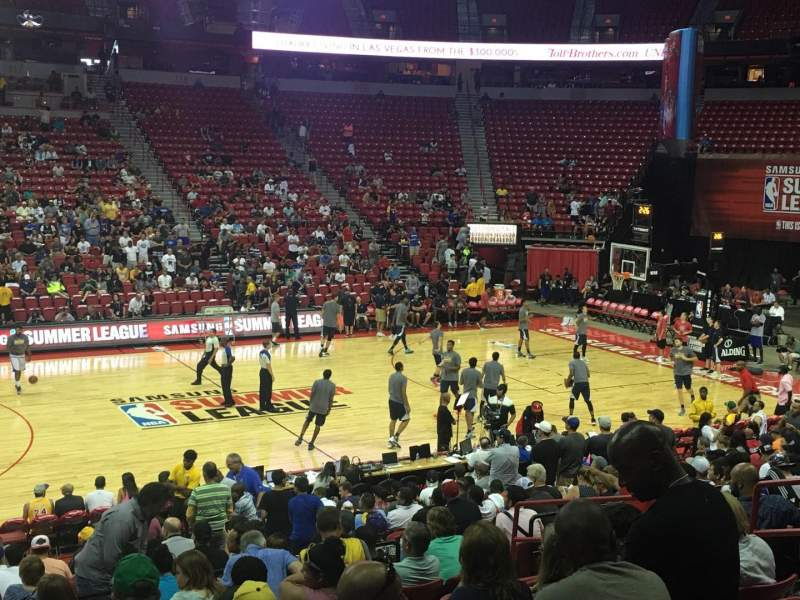 Seating view for Thomas & Mack Center Section 107 Row K Seat 9