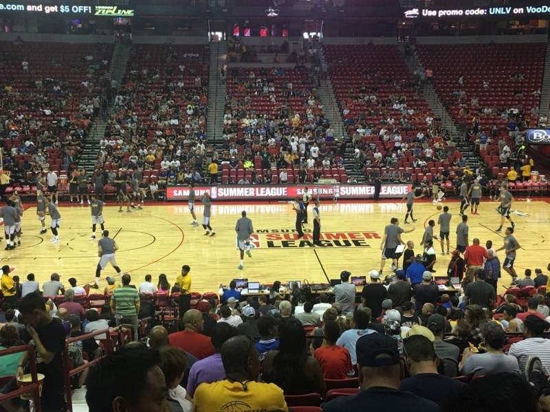 Seating view for Thomas & Mack Center Section 106 Row K Seat 14