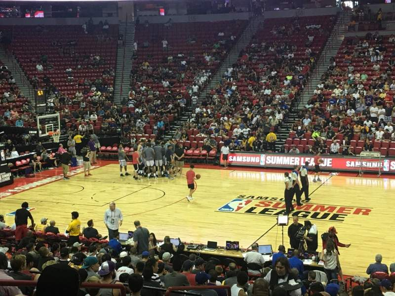 Seating view for Thomas & Mack Center Section 105 Row K Seat 10