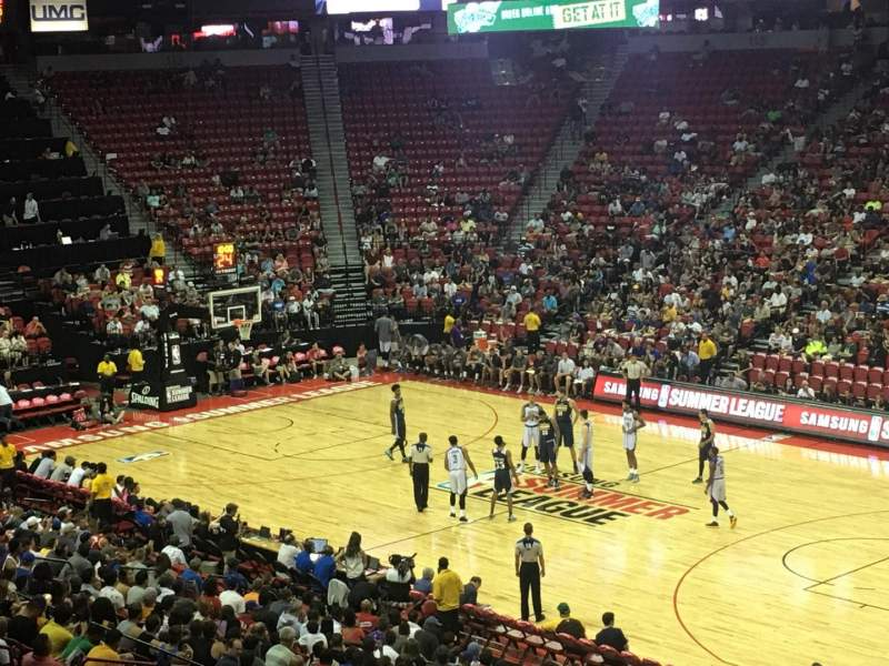 Seating view for Thomas & Mack Center Section 103 Row V Seat 21