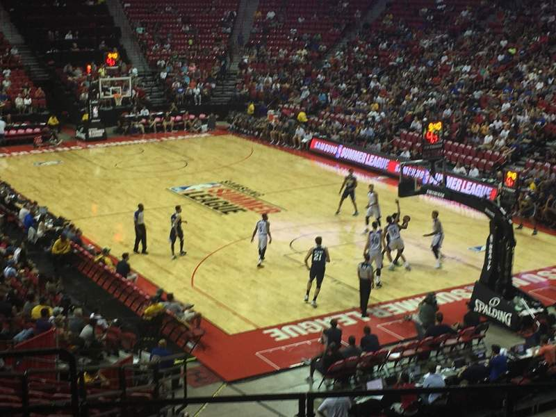 Seating view for Thomas & Mack Center Section 102 Row U Seat 21