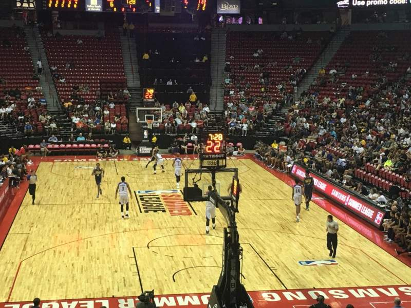 Seating view for Thomas & Mack Center Section 101 Row N Seat 7