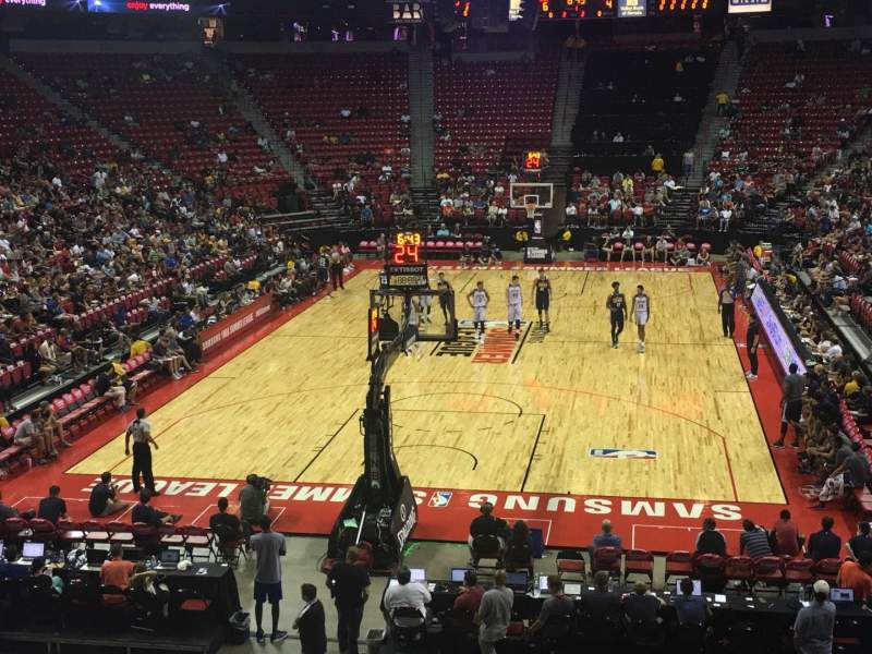 Seating view for Thomas & Mack Center Section 122 Row P Seat 8