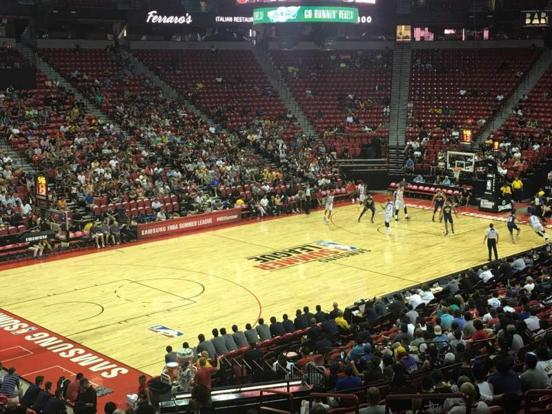 Seating view for Thomas & Mack Center Section 120 Row S Seat 6