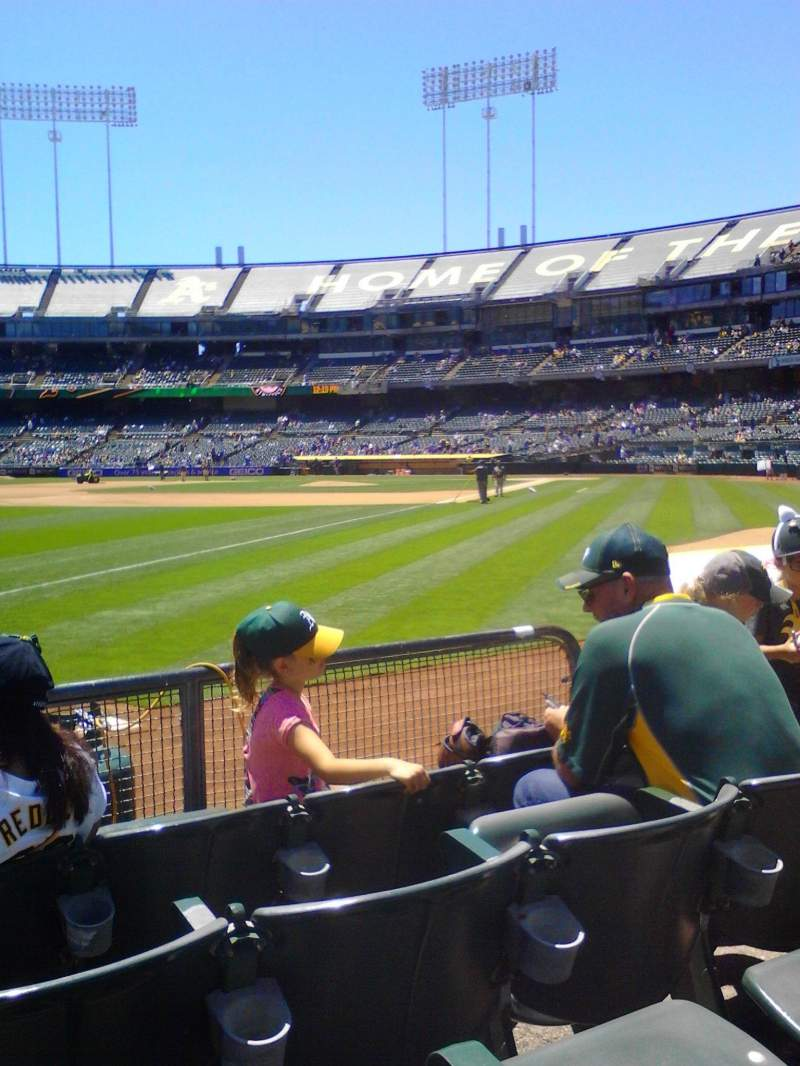 Seating view for Oakland Alameda Coliseum Section 129 Row 4 Seat 6