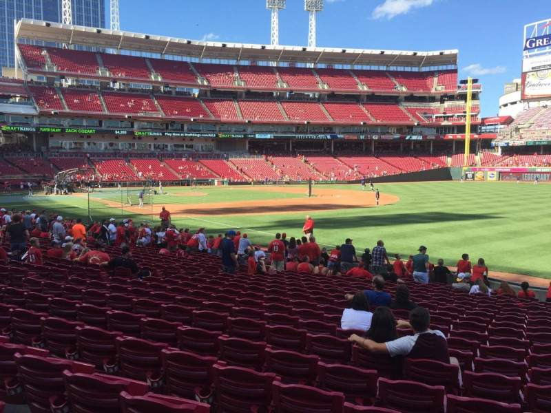 Seating view for Great American Ball Park Section 135 Row T Seat 7