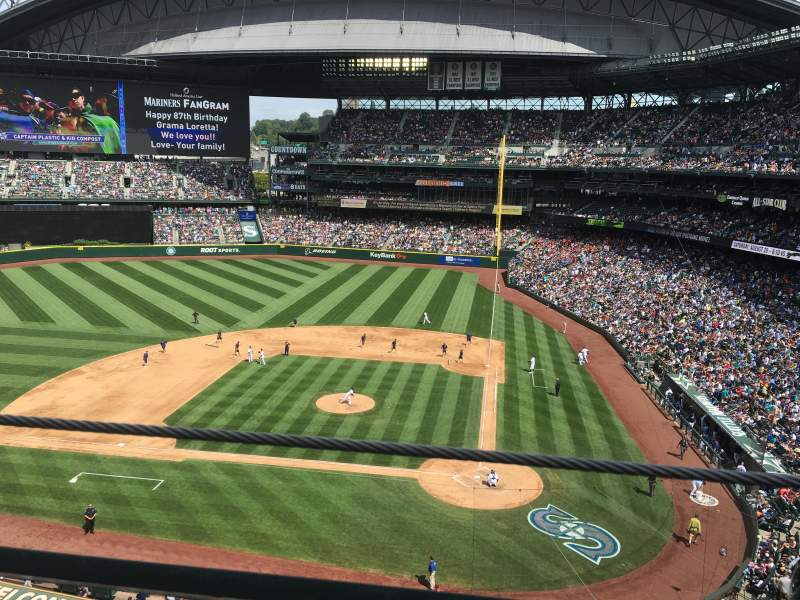 Seating view for T-Mobile Park Section 334 Row 1 Seat 7