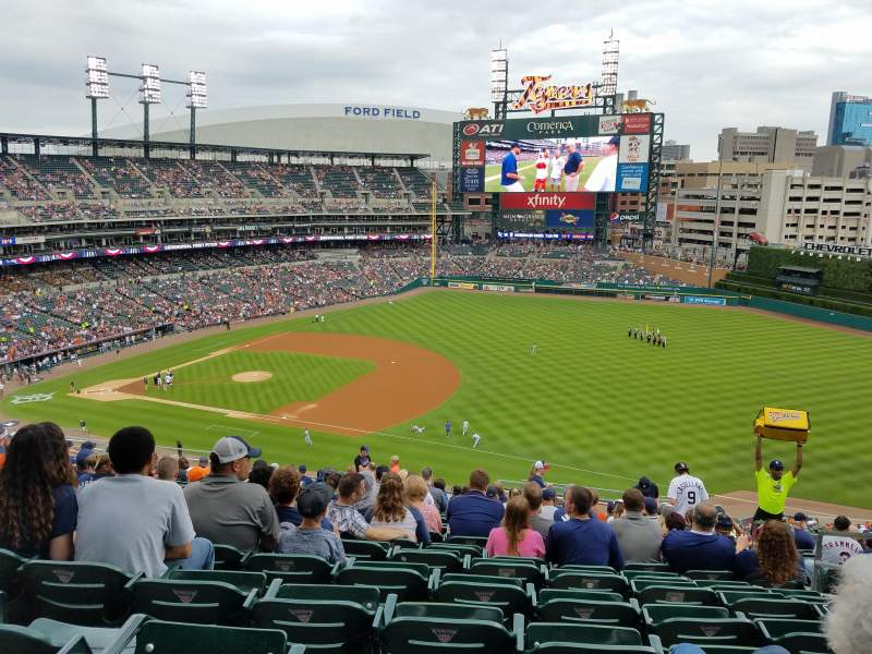Seating view for Comerica Park Section 217 Row 19 Seat R
