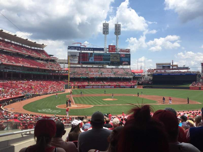 Seating view for Great American Ball Park Section 127 Row ii Seat 18
