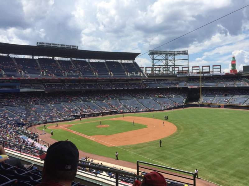 Seating view for Turner Field Section 321 Row 5 Seat 3