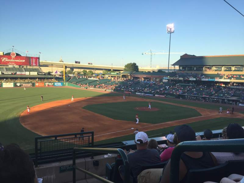 Seating view for Louisville Slugger Field Section 223 Row E Seat 1