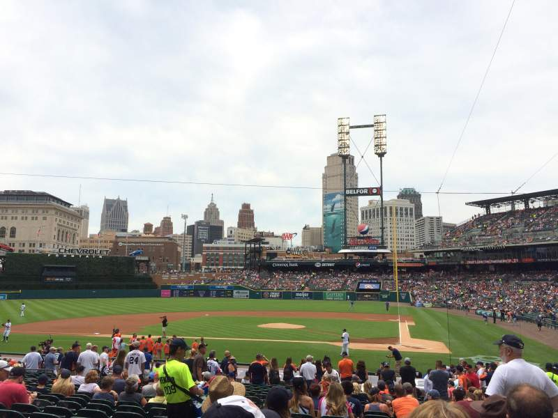 Seating view for Comerica Park Section 131 Row 28 Seat 13