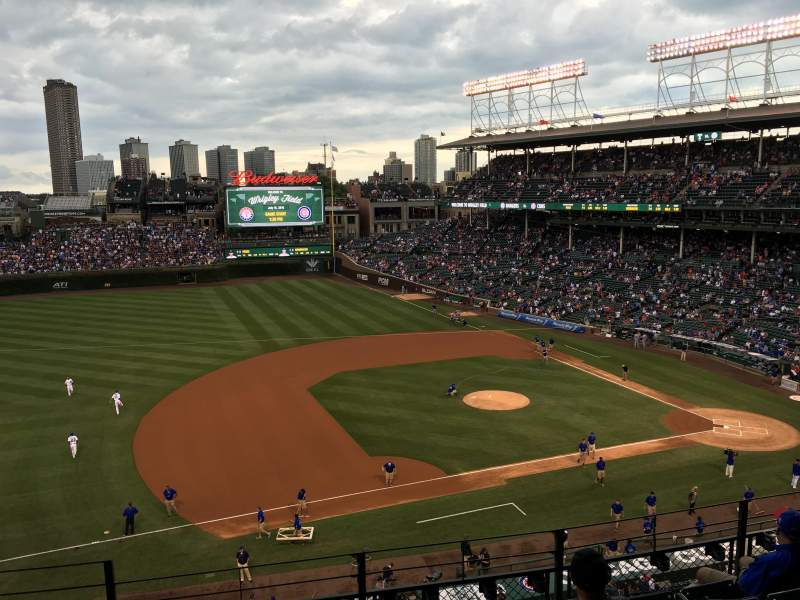 Seating view for Wrigley Field Section 411 Row 6 Seat 3