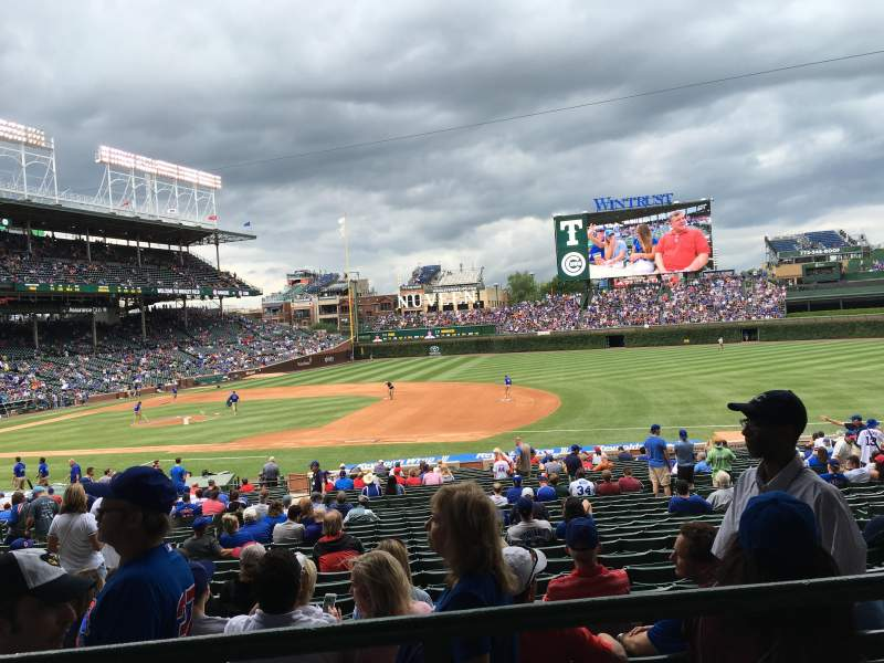 Seating view for Wrigley Field Section 231 Row 2 Seat 11