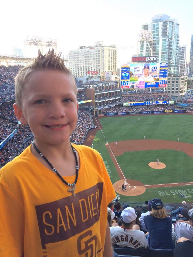 Seating view for PETCO Park Section UI305 Row 16 Seat 5