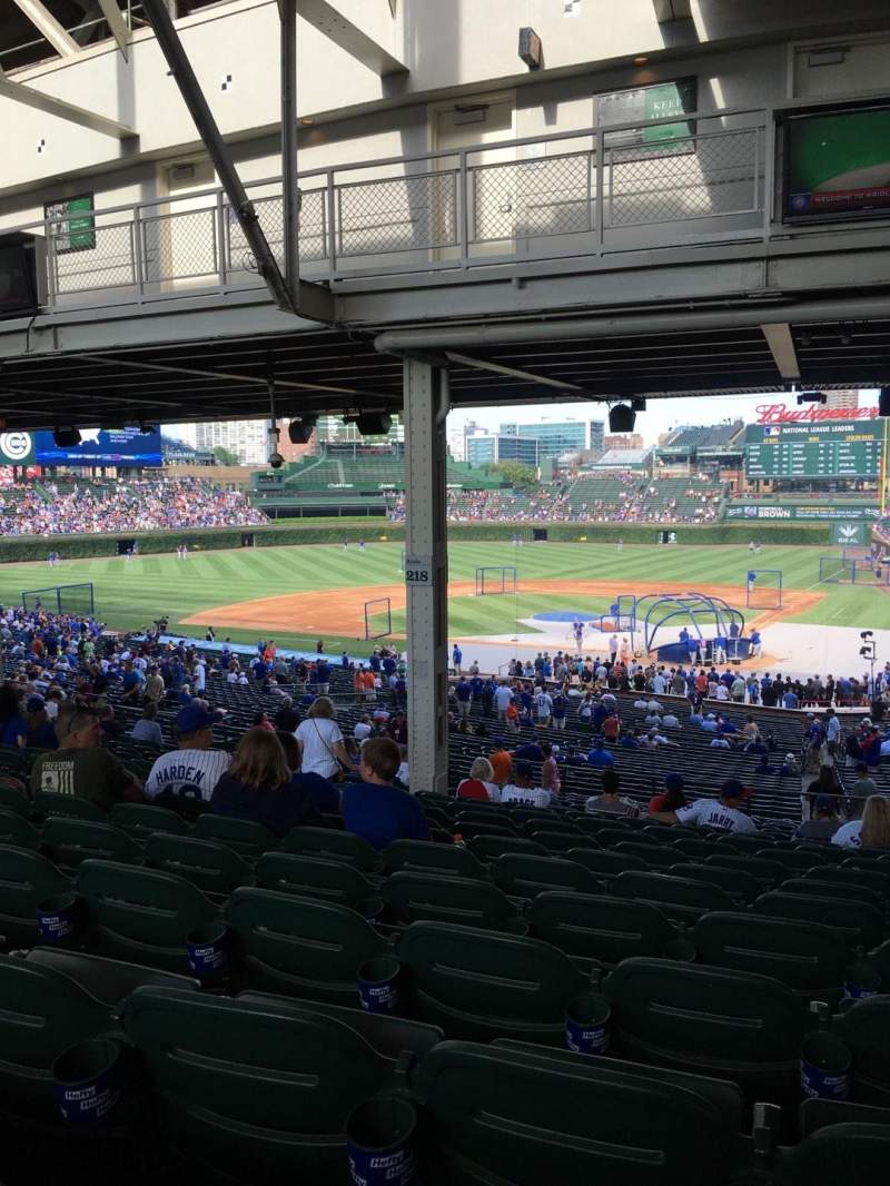 Seating view for Wrigley Field Section 218 Row 19 Seat 14
