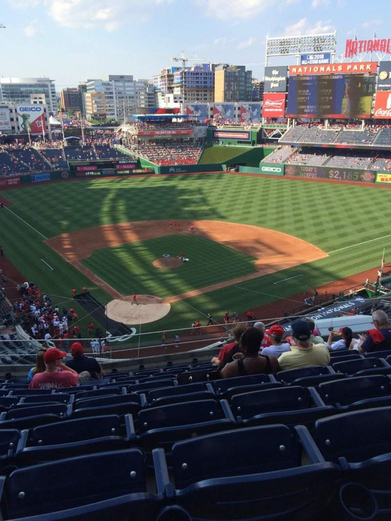 Seating view for Nationals Park Section 315 Row J Seat 10