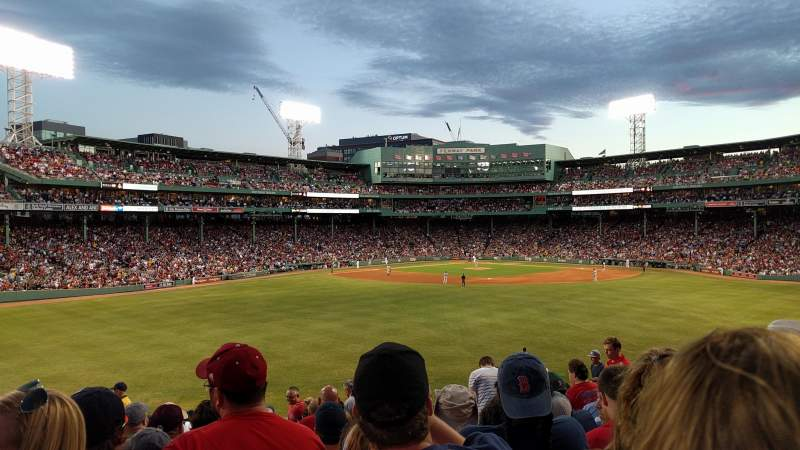 Seating view for Fenway Park Section Bleacher 36 Row 14 Seat 9