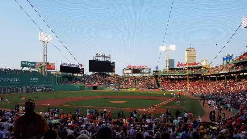 Fenway Park, section: Grandstand 23, row: 1, seat: 4