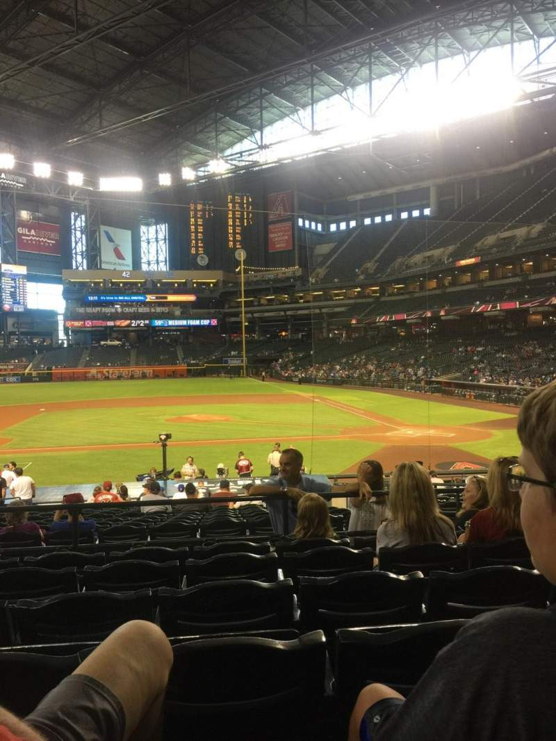 Seating view for Chase Field Section 127 Row 26 Seat 10
