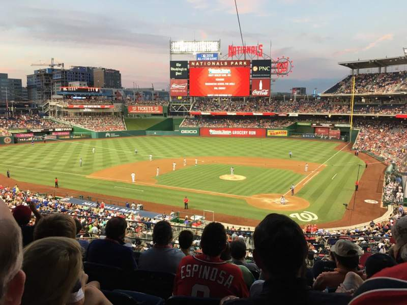 Seating view for Nationals Park Section 211 Row F Seat 7