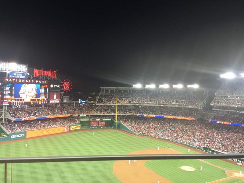 Seating view for Nationals Park Section 404 Row A Seat 11