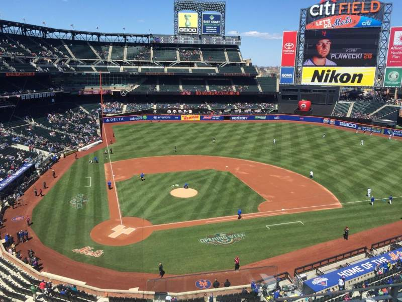 Seating view for Citi Field Section 411 Row 4 Seat 13