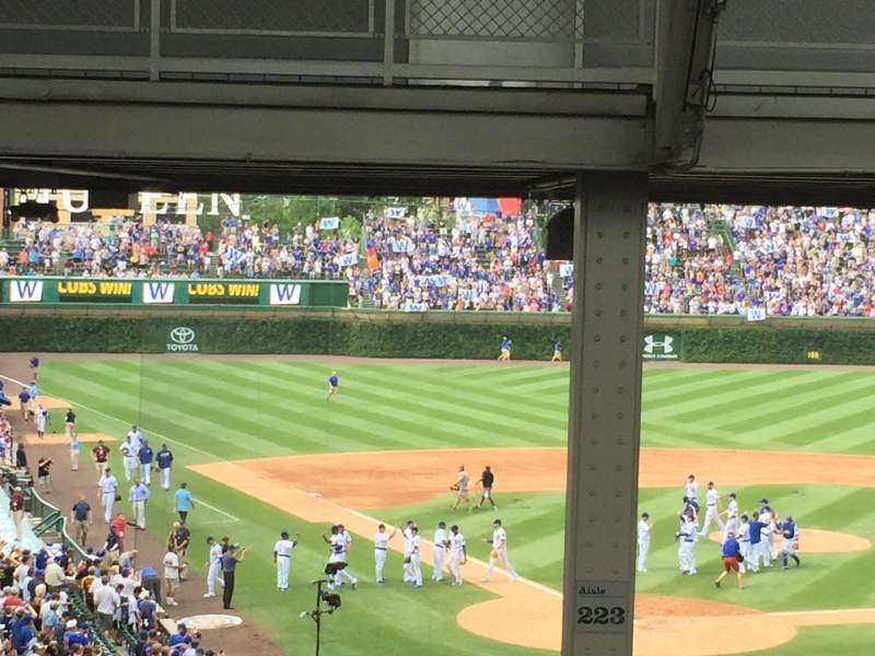 Wrigley Field, section 223, home of Chicago Cubs