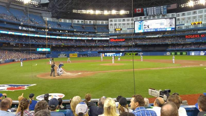 Seating view for Rogers Centre Section 119R Row 10 Seat 15