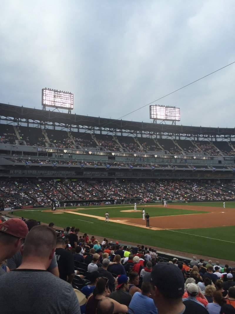 Seating view for U.S. Cellular Field Section 117 Row 19 Seat 1
