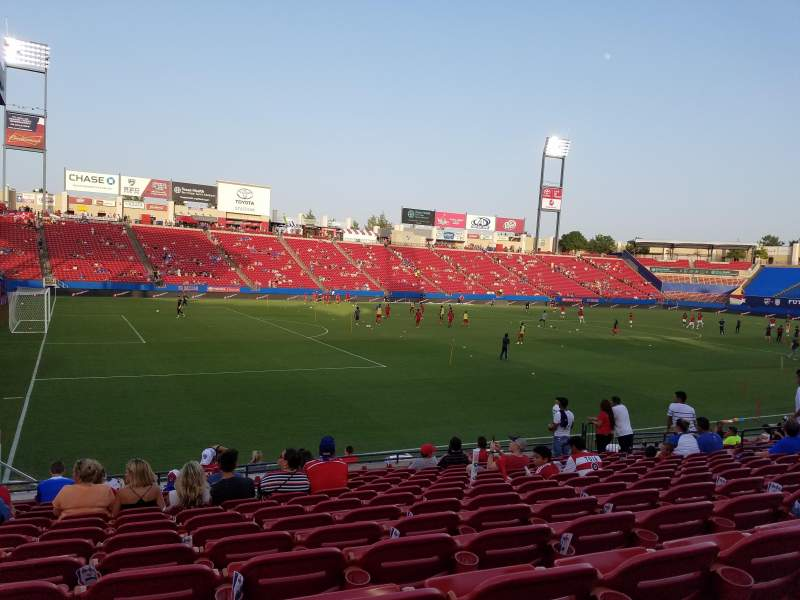Seating view for Toyota Stadium Section 102 Row 13 Seat 6