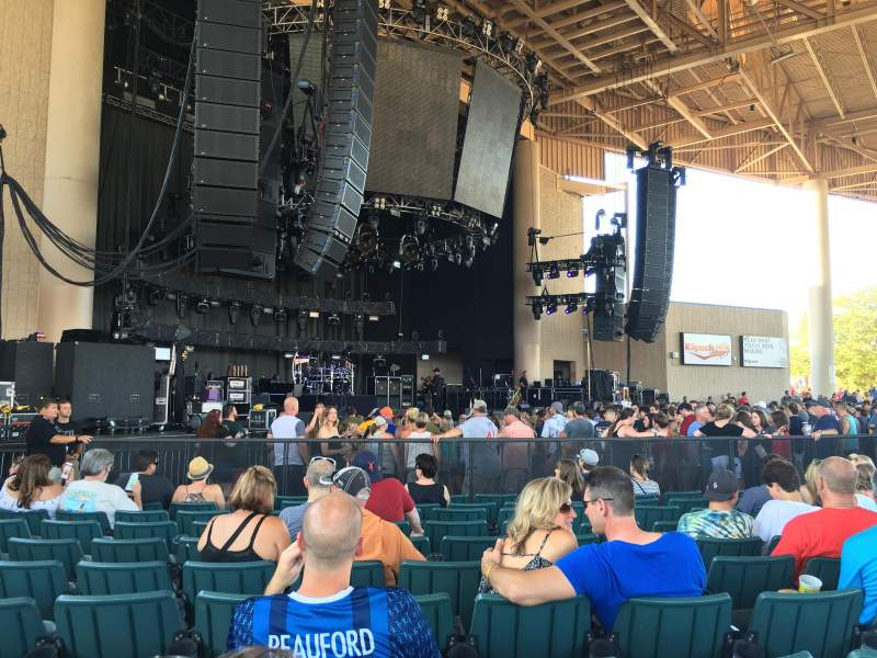 Seating view for Klipsch Music Center Section A Row W Seat 20