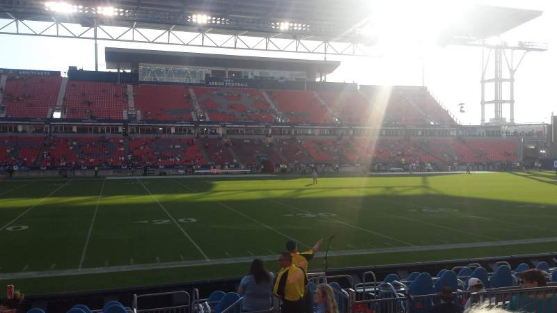 Seating view for BMO Field Section 109 Row 9 Seat 18
