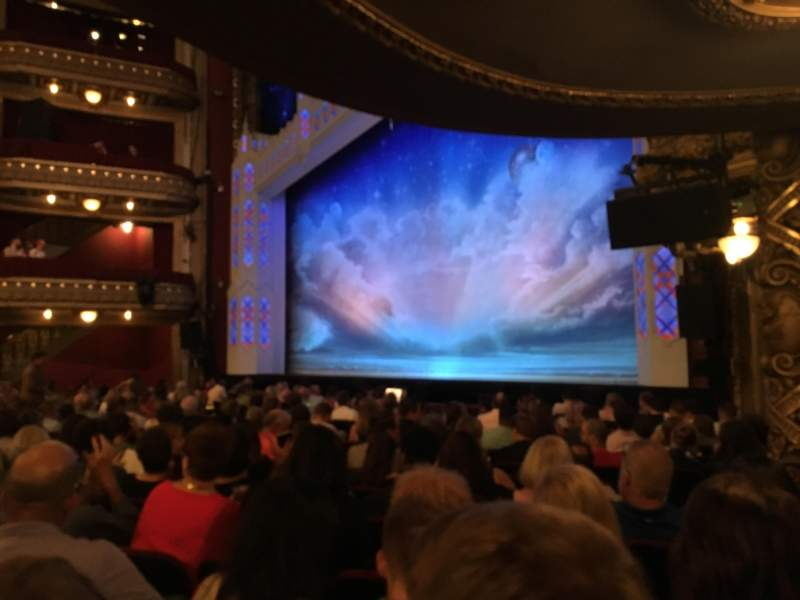 Seating view for PrivateBank Theatre Section orchestra Row P Seat 24