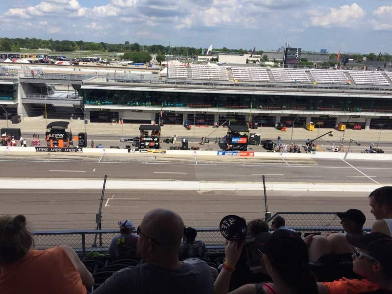 Seating view for Indianapolis Motor Speedway Section Penthouse A Box 6 Row H Seat 5