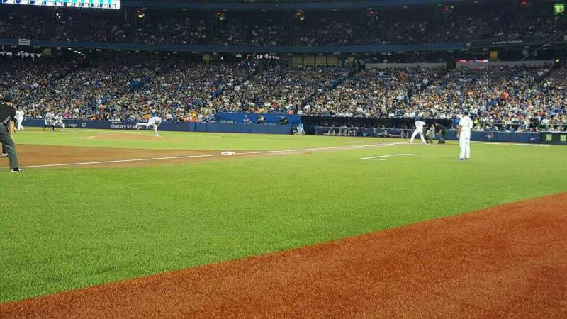 Seating view for Rogers Centre Section 130AR  Row 1 Seat 5