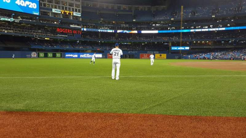 Seating view for Rogers Centre Section 130AR  Row 1 Seat 6