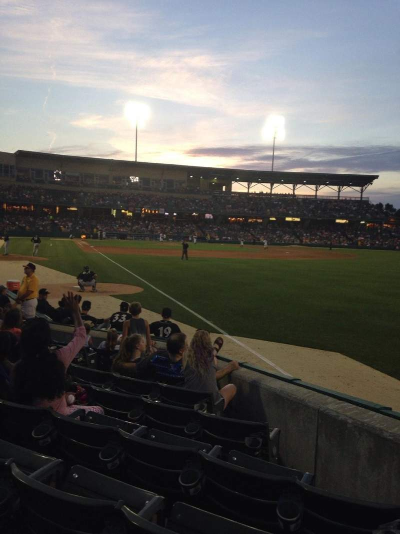 Seating view for Victory Field Section 123 Row J Seat 8