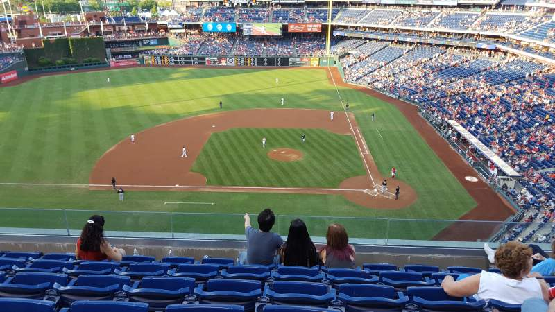 Seating view for Citizens Bank Park Section 325 Row 6 Seat 12