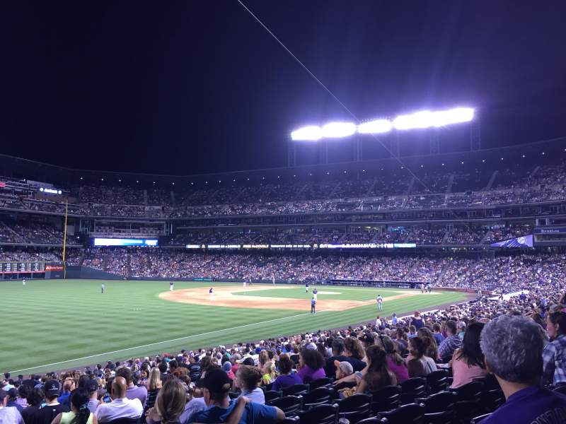 Seating view for Coors Field Section 147 Row 28 Seat 1