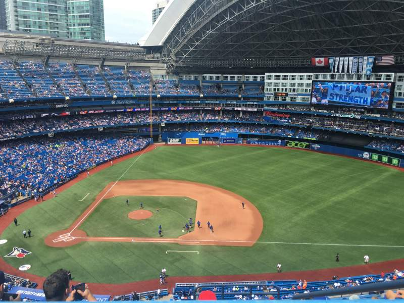 Seating view for Rogers Centre Section 518L Row 16 Seat 102