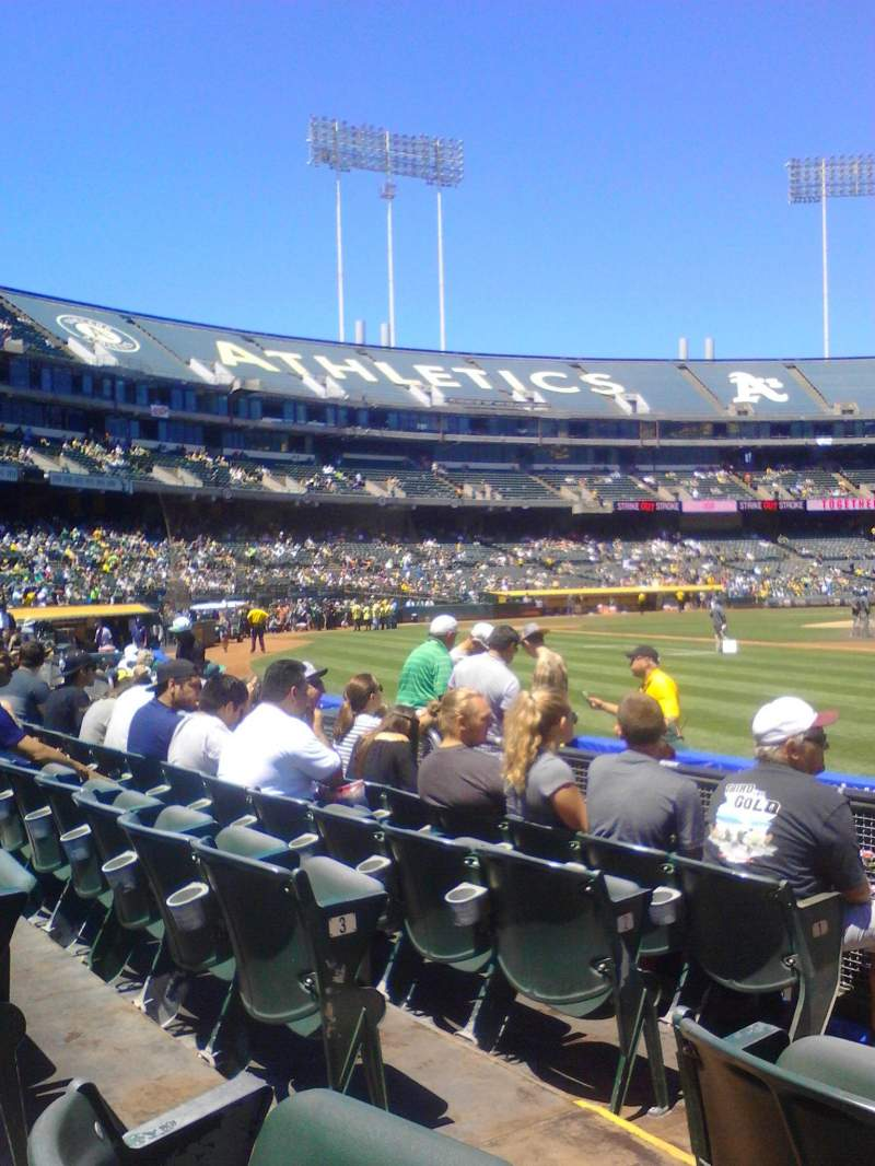 Seating view for Oakland Alameda Coliseum Section 108 Row 5 Seat 12