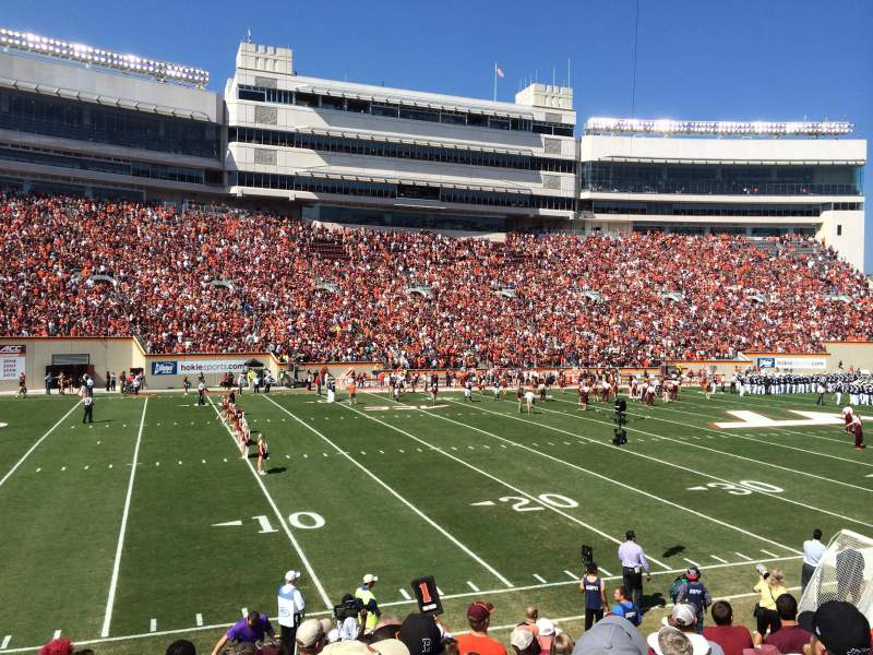 Seating view for Lane Stadium Section 17 Row W Seat 10