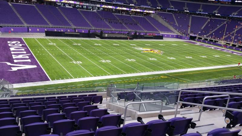 Seating view for U.S. Bank Stadium Section 135 Row 11 Seat 5