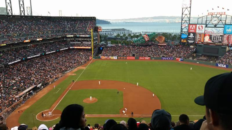 Seating view for AT&T Park Section 308 Row 14 Seat 6