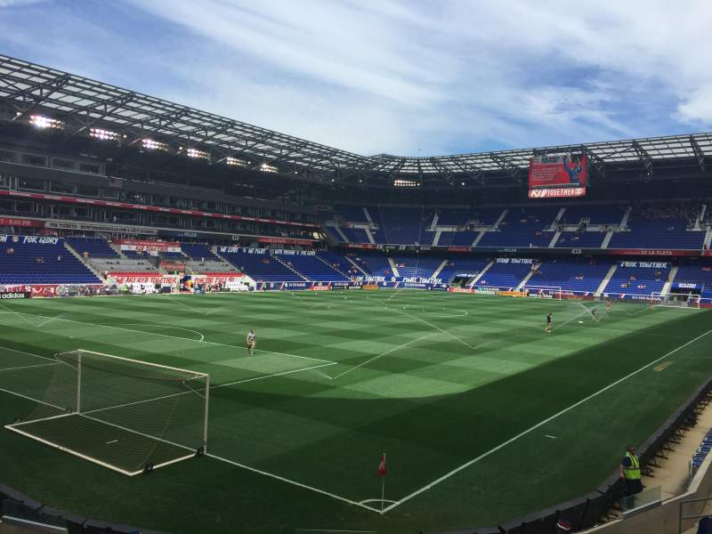 Seating view for Red Bull Arena Section 131 Row 12 Seat 1
