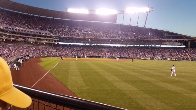 Seating view for Kauffman Stadium Section 148 Row J Seat 5